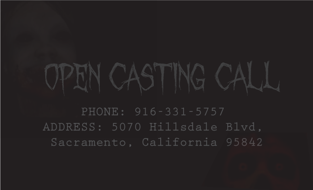 Haunted house casting call